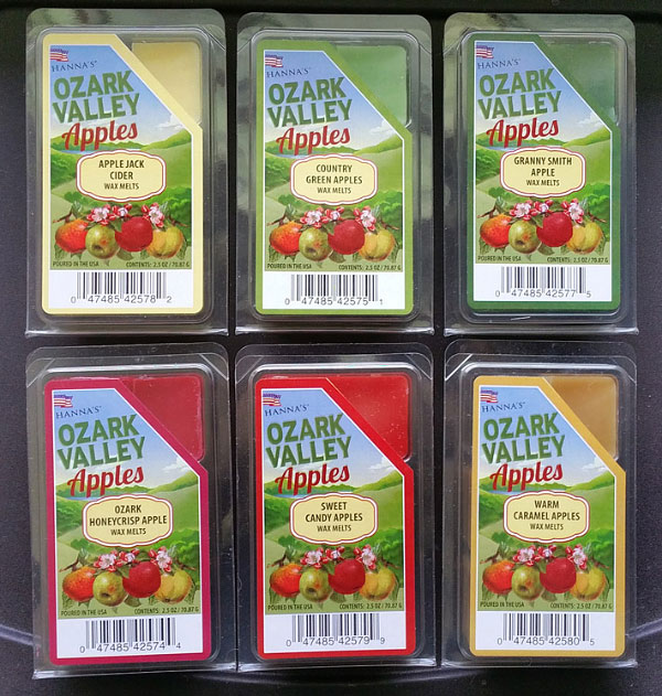 Hanna's Candle (Candlemart) Ozark Valley Apples Wax Melt Reviews