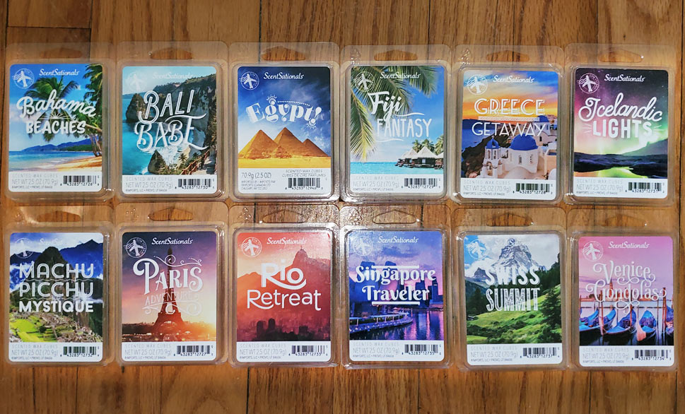ScentSationals Wax Melts Reviews - March 2021 - Bon Voyage/ Destinations/ Travel Collection