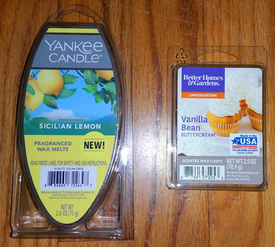 Yankee Candle Wax Melts Packaging